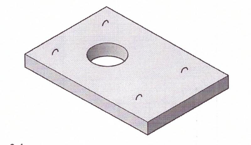 Плита теплотрасс с отверстием