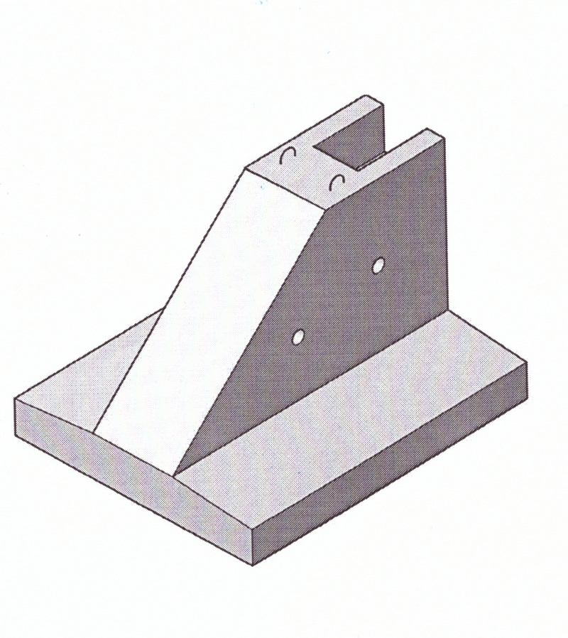 Фундаменты под трехшарнирные рамы жби