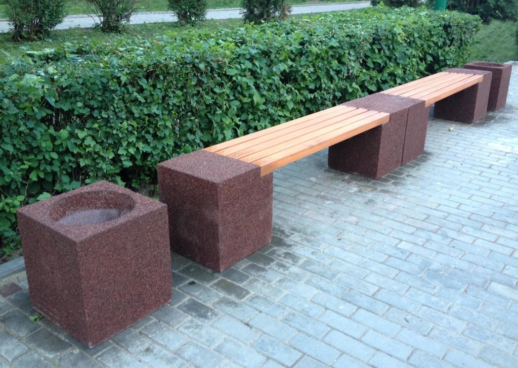 скамьи бетонные