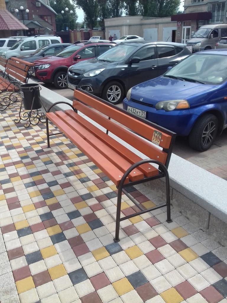 скамейки уличные металлические