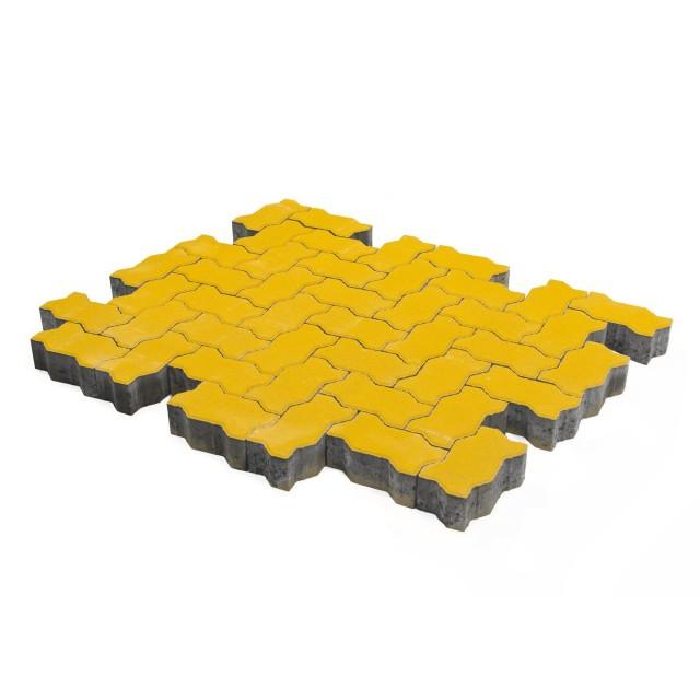 Тротуарная плитка Волна желтый