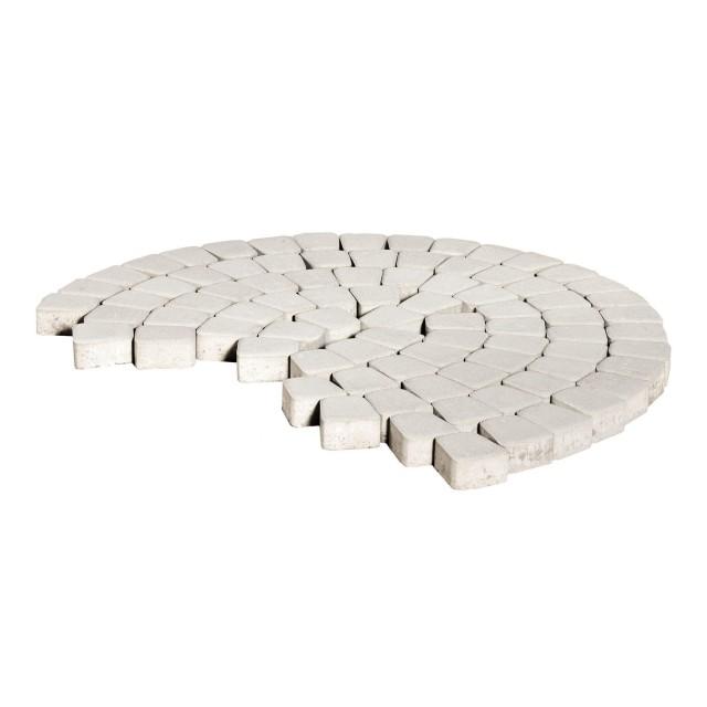 Тротуарная плитка классико круговая белый