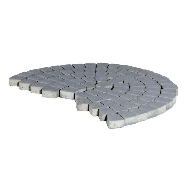Тротуарная плитка классико круговая грифельный