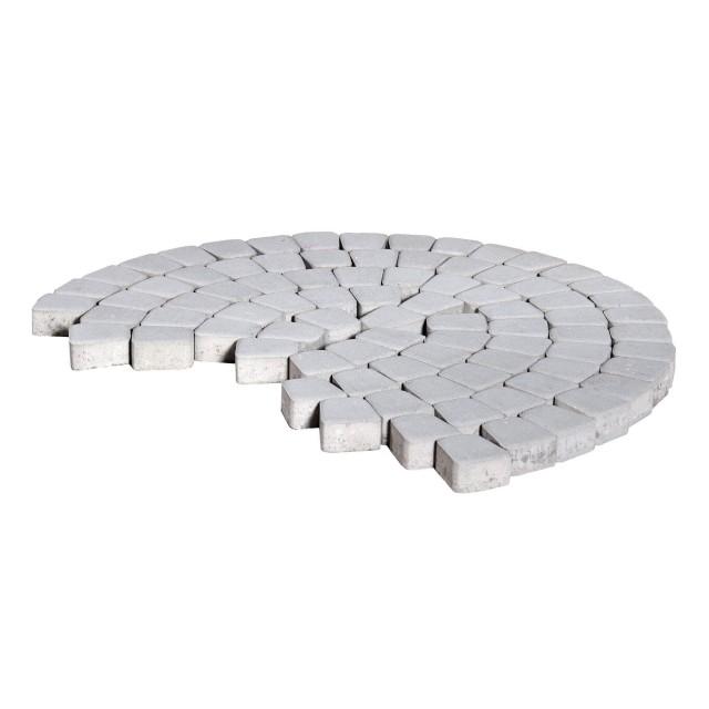 Тротуарная плитка классико круговая серебристый