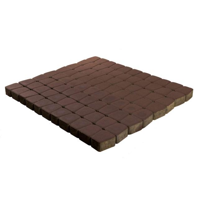 Тротуарная плитка классико круговая коричневый