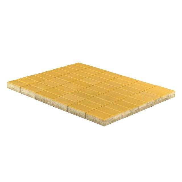 Тротуарная плитка Прямоугольник желтый
