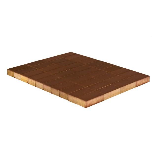 Тротуарная плитка Прямоугольник коричневый