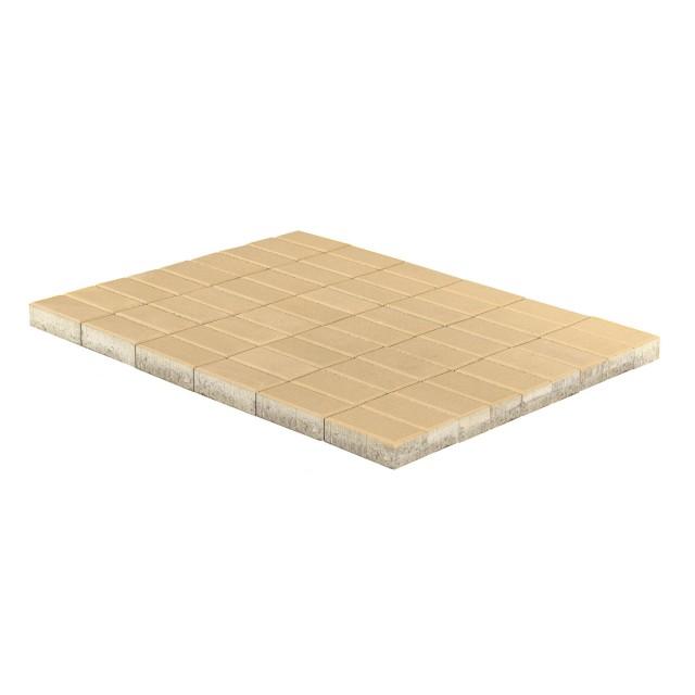 Тротуарная плитка Прямоугольник песочный
