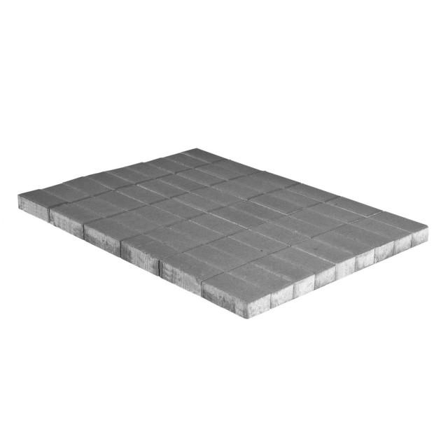Тротуарная плитка Прямоугольник серый двухслойная