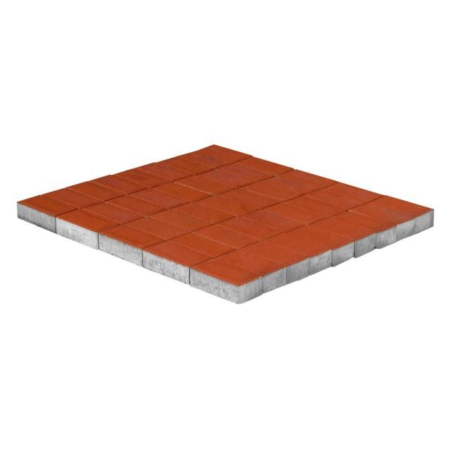 Тротуарная плитка Прямоугольник красный