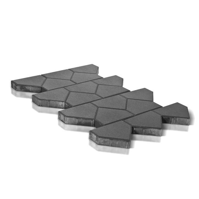 Тротуарная плитка Тиара серый