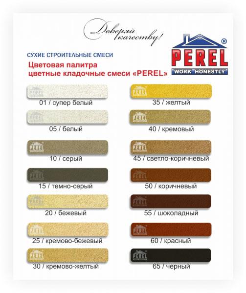 Строительные смеси Perel